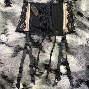 Victoria's Secret Sexy Corset Lace Up Garter Belt